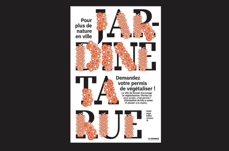 Jardine ta rue, poster and identity
